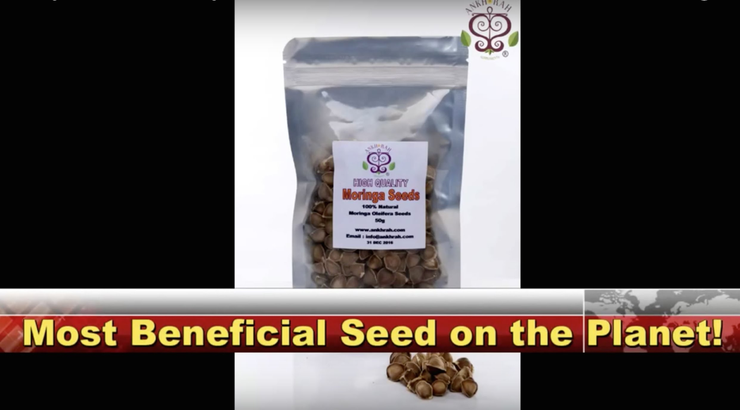Customers response to tasting a moringa seed for the first time!