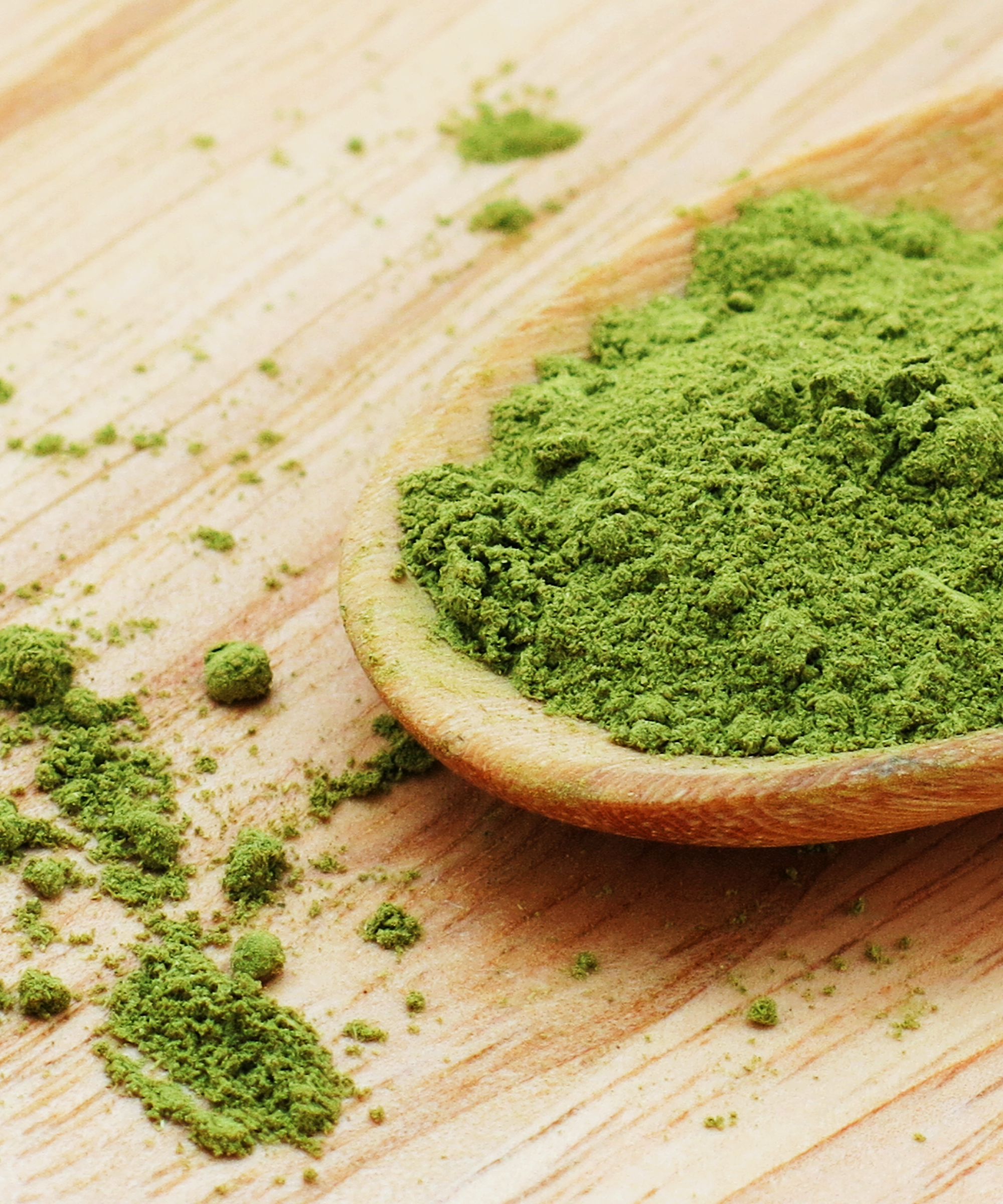 moringa powder in spoon