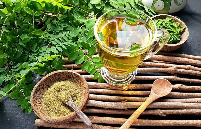 moringa oil leaves powder